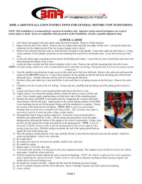 BMR Installation Instructions for AA011