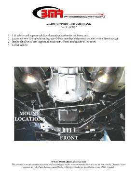 BMR Installation Instructions for AAS001