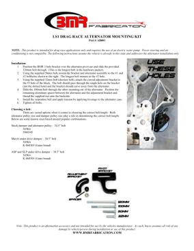 BMR Installation Instructions for AB001