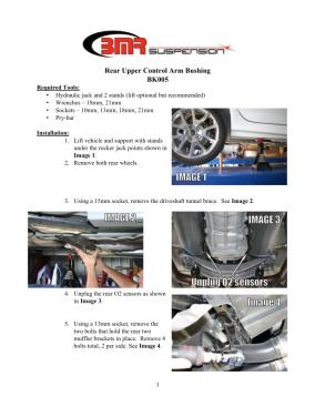 BMR Installation Instructions for BK005