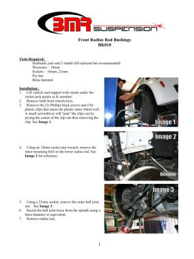 BMR Installation Instructions for BK010