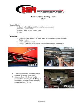 BMR Installation Instructions for BK016