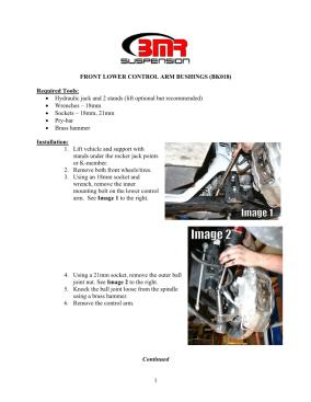 BMR Installation Instructions for BK018