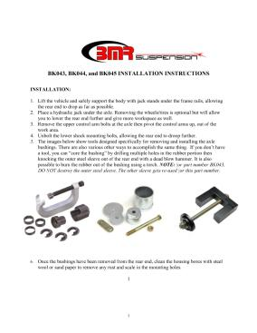BMR Installation Instructions for BK044