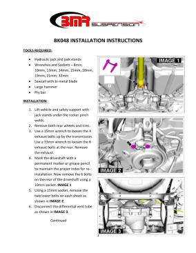 BMR Installation Instructions for BK048