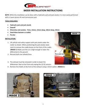 BMR Installation Instructions for BK059-SD