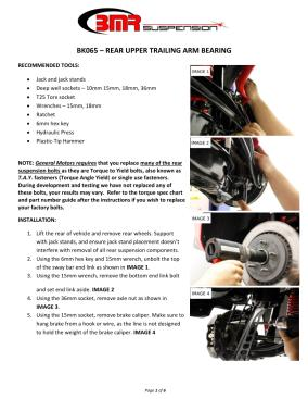 BMR Installation Instructions for BK065