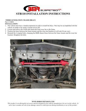 BMR Installation Instructions for CB002