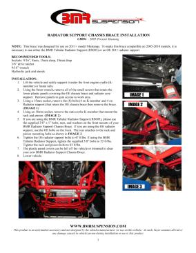 BMR Installation Instructions for CB004