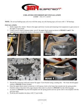 BMR Installation Instructions for CCK002