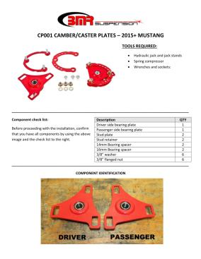 BMR Installation Instructions for CP001