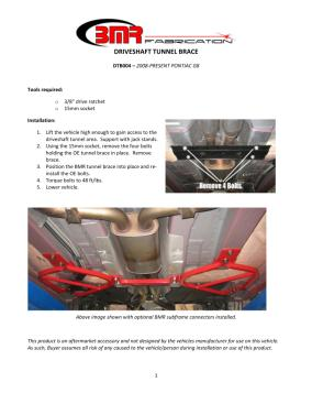 BMR Installation Instructions for DTB004