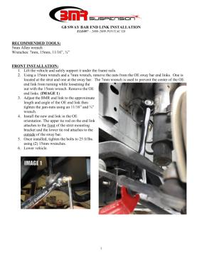 BMR Installation Instructions for ELK007