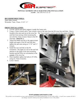 BMR Installation Instructions for ELK008