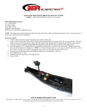 BMR Installation Instructions for ELK009