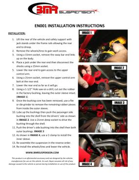 BMR Installation Instructions for EN001