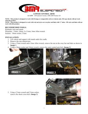 BMR Installation Instructions for LCA355