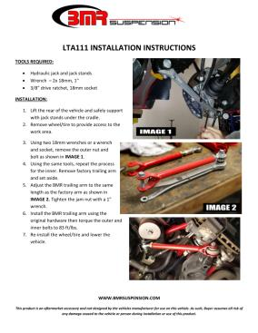 BMR Installation Instructions for LTA111