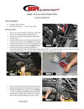 BMR Installation Instructions for MM004
