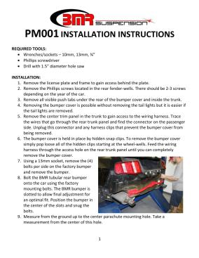 BMR Installation Instructions for PM001