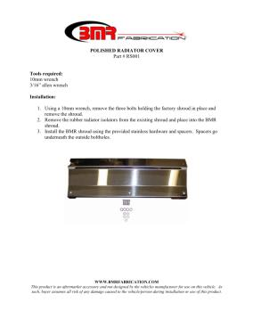 BMR Installation Instructions for RS001