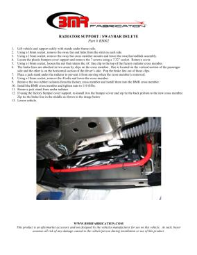 BMR Installation Instructions for RS002