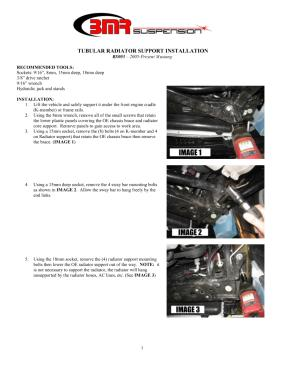 BMR Installation Instructions for RS003