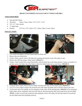 BMR Installation Instructions for S5003