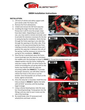 BMR Installation Instructions for SB004