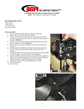 BMR Installation Instructions for SB033