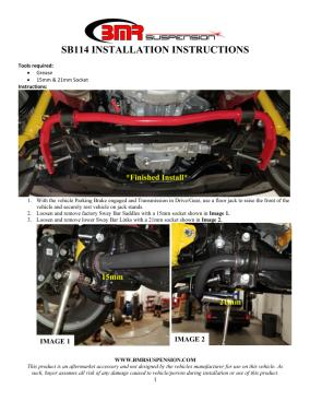 BMR Installation Instructions for SB114