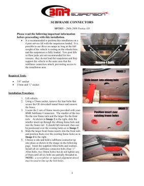 BMR Installation Instructions for SFC013