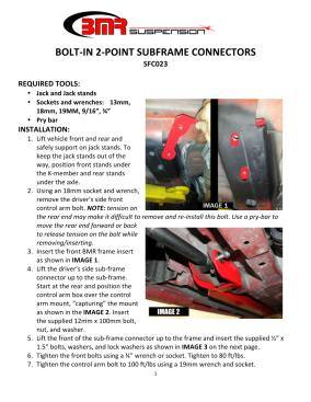 BMR Installation Instructions for SFC023