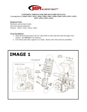 BMR Installation Instructions for SP009