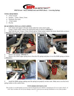 BMR Installation Instructions for SP028