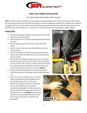 BMR Installation Instructions for SP057