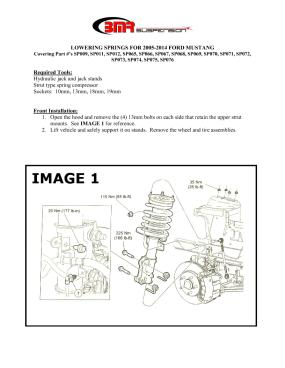 BMR Installation Instructions for SP072
