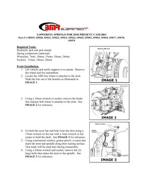 BMR Installation Instructions for SP079