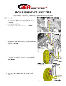 BMR Installation Instructions for SP087