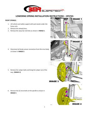 BMR Installation Instructions for SPH765