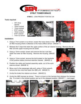 BMR Installation Instructions for STB012
