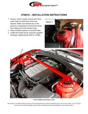 BMR Installation Instructions for STB018