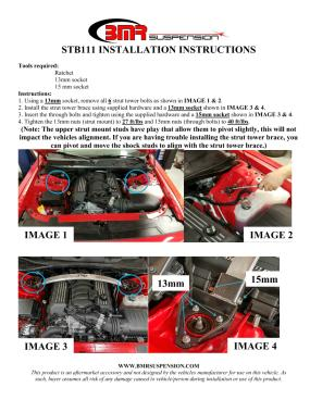 BMR Installation Instructions for STB111