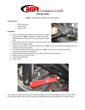 BMR Installation Instructions for TCA027