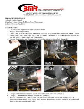 BMR Installation Instructions for TCA029