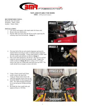 BMR Installation Instructions for TR002
