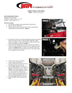 BMR Installation Instructions for TR003