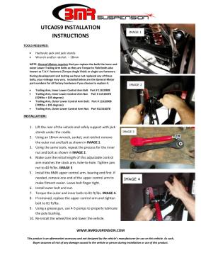 BMR Installation Instructions for UTCA059