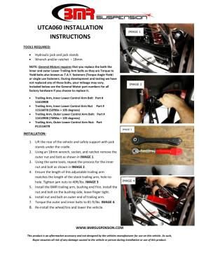 BMR Installation Instructions for UTCA060