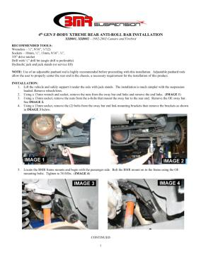 BMR Installation Instructions for XSB001